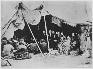 1868 Fort Laramie Treaty Gathering, Pine Ridge.