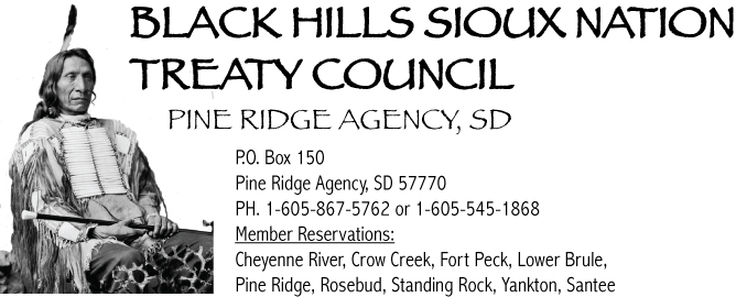 [Official Correspondence] Black Hills Sioux Nation Treaty Council 9/9/18